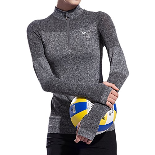 Women's Sweatshirts Half-Zip Quarter Long-Sleeve Yoga Running Pullover Jacket