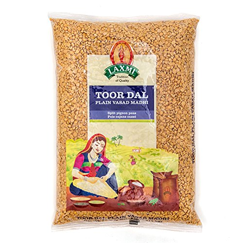 Laxmi Sona Masoori Rice & Laxmi Toor Dal Bundle - (10lb Rice and 4lb Dal) by Laxmi (Image #1)