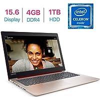 Lenovo IdeaPad 320 15.6-inch HD Anti-Glare(1366x768) Display Laptop PC, Intel Celeron N3350 Processor 1.1GHz, 4GB DDR4 RAM, 1TB HDD, HDMI, Bluetooth, WiFi, Webcam, DVD-RW, Windows 10- RED