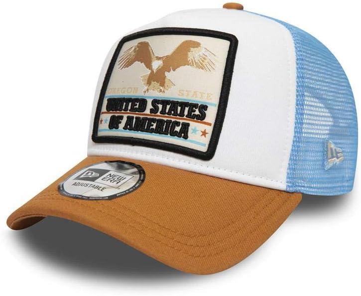 Talla /Única Unisex Adulto White New Era Oregon Eagle 940 AF Trucker Ne Sfp Gorra