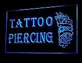 Tattoo Piercing Dice 8 Ball Design Poker Shop Led Light Sign