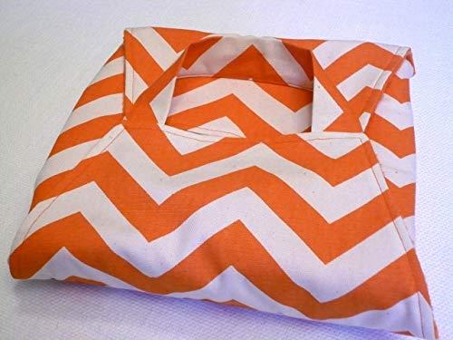 Orange Chevron 8x8 Covered Dish Tote - American Made