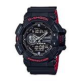 Casio G-Shock GA-400HR Black/Red Layer Series - Black / One Size