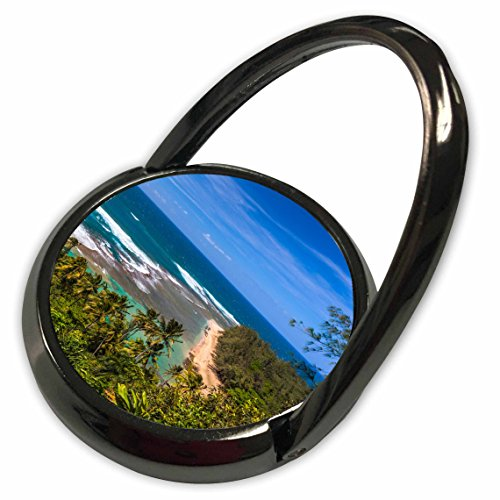 (3dRose Danita Delimont - Beaches - Tunnels Beach as seen from the Kalalau Trail in Kauai - Phone Ring (phr_205946_1))