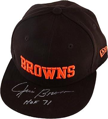 Jim Brown Cleveland Browns Autographed Hat with HOF 71 Inscription - Fanatics Authentic Certified - Autographed NFL Hats
