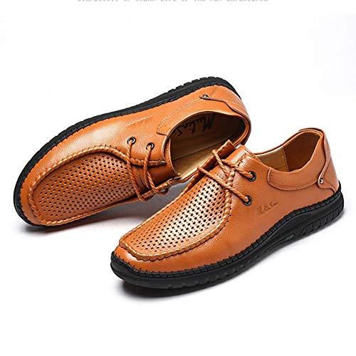 Reino Zapatos US Respirables con los Negro de de Cuero Zapatos 8 Cordones los de Hombres Unido Huecos Hombres de del los Hombres Negro de tamaño Verano Color Ocasionales 7 Vestir HhGold q7xftcwaaF