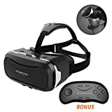Cheap SIMPZIA VR Virtual Reality Headset 3D VR Glasses Helmet + Smart Bluetooth Remote Controller Comfortable Wearing for Video Games Movies