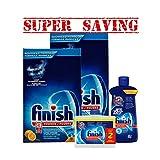 finish dishwasher basket - 2 X Finish Deep Cleaning Lemon Powder 3 Kg & Jet-Dry Rinse Agent, 621 ml & Dishwasher Cleaner