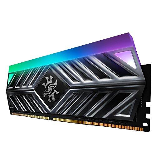 XPG Spectrix D41 DDR4 RGB 3000MHz 16GB (2x8GB) 288-Pin PC4-24000 Desktop U-DIMM Memory Retail Kit Grey (AX4U300038G16A-DT41)
