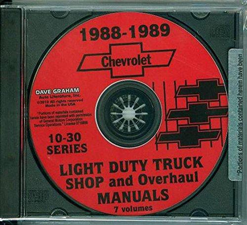 THE ABSOLUTE BEST 1988 1989 CHEVROLET 10-30 PICKUP & TRUCK REPAIR SHOP & SERVICE MANUAL CD ½ ton, ¾ ton & 1 ton Chevy C, K, G & P Trucks Blazer, Suburban, Pickup Truck and Van, Sportvan & Cutaway Van) CHEVY 88 89