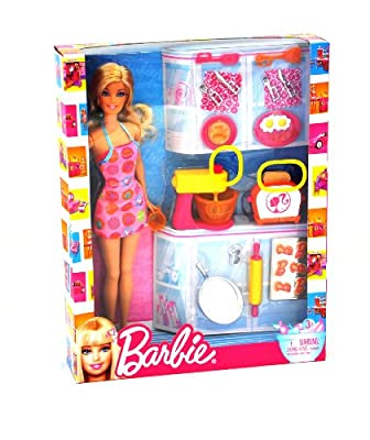 Barbie Doll And Kitchen Accessory Set from Mattel