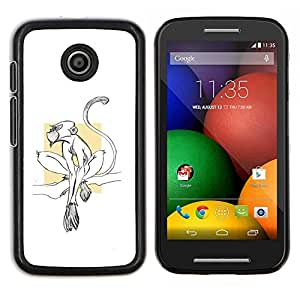 Dragon Case - FOR Motorola Moto E (1st Gen, 2014) - monkey cute tiny minimalist white clean - Caja protectora de pl??stico duro de la cubierta Dise?¡Ào Slim Fit