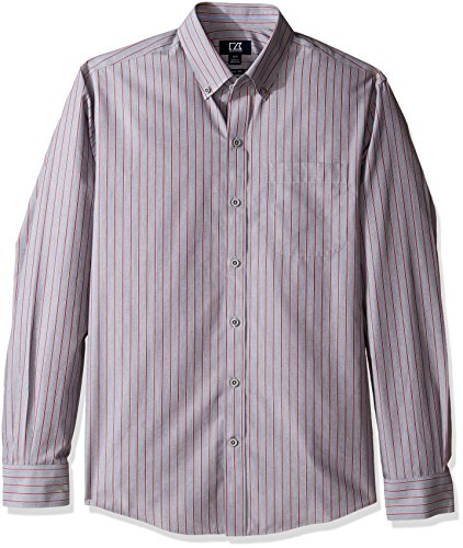 (Cutter & Buck Men's Big and Tall Long Sleeve Wrinkle Free Peak Stripe, Multi, 3XB)