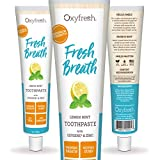 Oxyfresh Maximum Fresh Breath Lemon Mint Toothpaste - Low Abrasion, Long Lasting Fresh Breath - Dentist Recommended