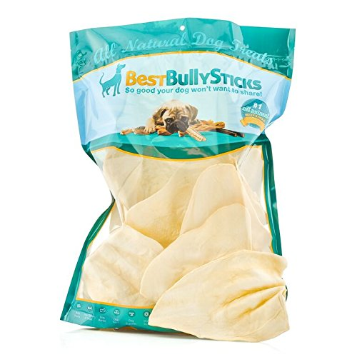 Jumbo Cow Ear Dog Treats by Best Bully Sticks (10 pack)