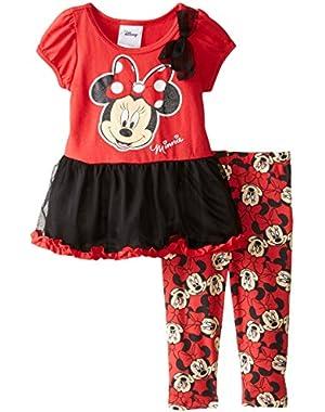 Baby Girls' 2 Piece Minnie Dress and Printed Legging