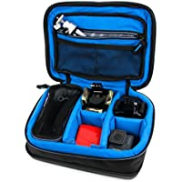Protective EVA Headphone Case (in Blue) for the August EP650B | August EP650R | August EP650W - by DURAGADGET
