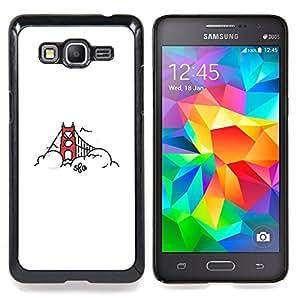 "Qstar Arte & diseño plástico duro Fundas Cover Cubre Hard Case Cover para Samsung Galaxy Grand Prime G530H / DS (Puente de San Francisco"")"