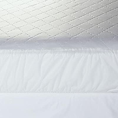 Mattress Pad. Best Waterproof Soft Hypoallergenic Topper Pillow For Deep Healthy Sleep Tempurpedic Comforter Firm Total Protection Cover Protects Bed From Stains, Dust, Dirt, Wetness & Insects