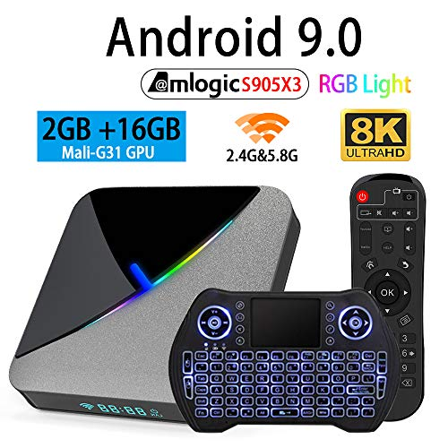 Android TV Box 10.0 Allwinner H616 2GB 16GB TV Box Support 3D 4K 6K Resolution with 2.4GB 5.8G Dual Band WiFi Bluetooth…