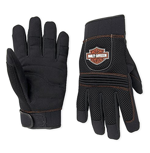 Harley-Davidson Men's Bar & Shield Full-Finger Mesh Gloves 98263-07VM Black Size 2XL - Harley Knuckle