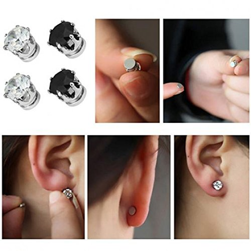 1 Pair of Magnet Earrings Popular Clip No Piercing Men's and Women's Popular Jewelry Party by AxiEr (Image #3)