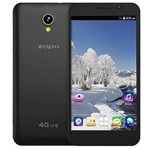 ZOPO C5 4G Unlocked Phone 5.5 inch IPS G+G Screen Android 4.4 OTG Wifi Display MTK6582M Quad Core 1.3GHz RAM 1GB ROM 8GB, FDD-LTE & WCDMA & GSM (Black)
