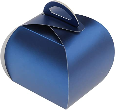 10pcs Caja de Torta Portátiles de Color Azul con Forma de Bolso para Llevar Pasteles: Amazon.es: Hogar