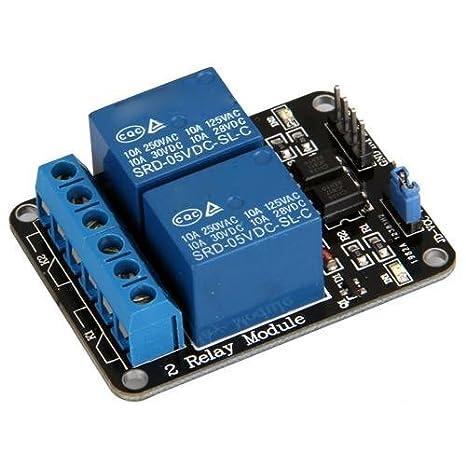 5V Módulo de 2 Canales rele Shield para Arduino ARM PIC AVR DSP Electronic: Amazon.es: Electrónica