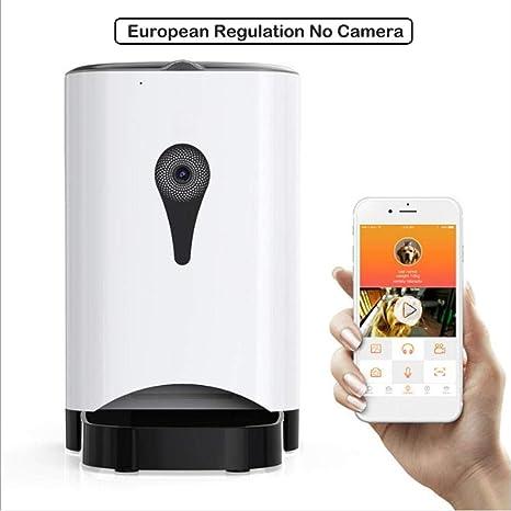 Dispensador automático de Comida para Perro y Gato WiFi Cámara Mando a Distancia portátil App,