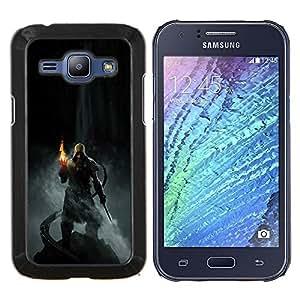 LECELL--Funda protectora / Cubierta / Piel For Samsung Galaxy J1 J100 -- Dracónido héroe --