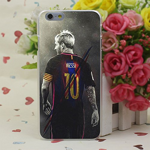 i iPhone 4 Case Soccer Football Players Leo Messi 10 iPhone 4s Back Cover FC Barcelona Team Footballer Sports Theme iPhone 4/4s Skin Protector Case HD Print, Slim Hard PC Plastic ()