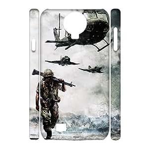 3D Samsung Galaxy S4 Case, Antislip Vietnam War Case for Samsung Galaxy S4 {White}