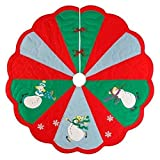 Quilted Christmas Tree Skirt - Slip Sliding Snowmen by C & F Enterprises