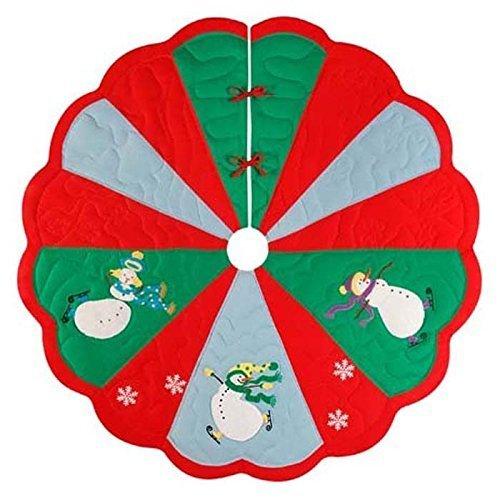 Quilted Christmas Tree Skirt - Slip Sliding Snowmen by C & F Enterprises