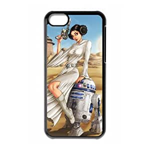 iPhone 5c Black Cell Phone Case Star Wars R2D2 STY791566 Phone Case For Men