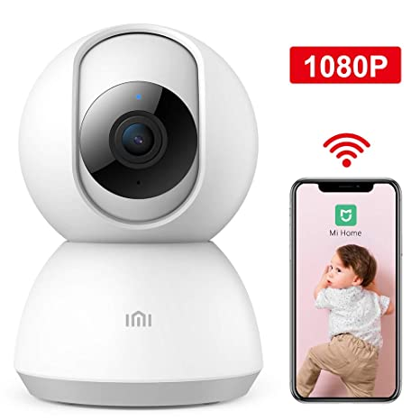 xiaomi Wireless IP Home Security Camera,1080P Surveillance Smart Mi Camera  with Two-Way Audio,2 4Ghz WiFi Indoor Dome Camera for Pet Baby Elder