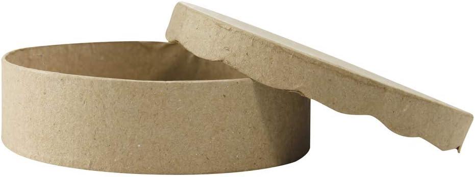 aus Pappmach/é, 21 x 21 x 3,5 cm, zum Verzieren, ideal f/ür Ihre Wohndeko Kartonbraun D/écopatch BT016O Box quadratisch flach