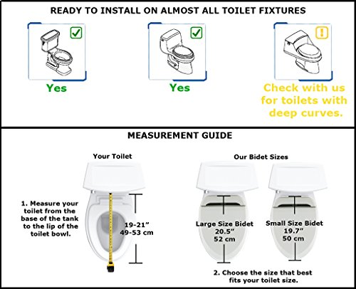 Groovy Uspa Ub 6035R Warm Water Bidet Toilet Seat Dual Nozzle Heated Seat Air Dry Free Accessory Gift Package Included Small Dailytribune Chair Design For Home Dailytribuneorg