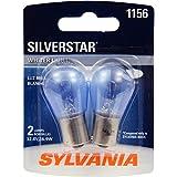 SYLVANIA 1156 SilverStar High Performance Miniature Bulb, (Pack of 2)