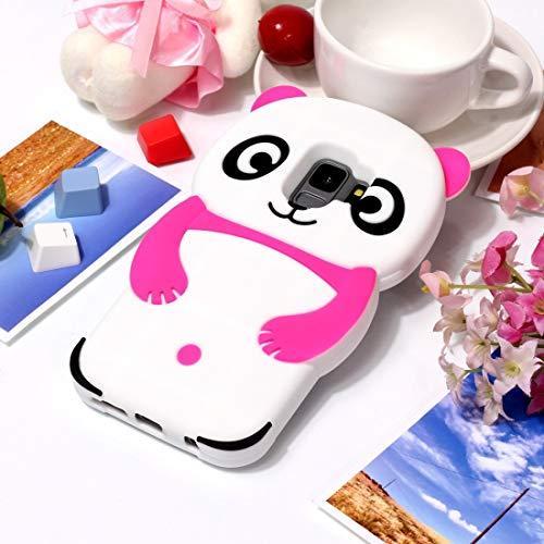 Beautiful Cases & Covers Adorable 3D Panda Silicone Phone Case for Samsung Galaxy S9 / G960 (Color : Rose)