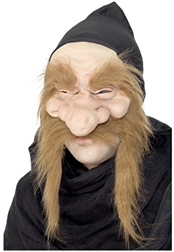 Adult Gold Digger Garden Gnome Dwarf Mask with Hood Costume -