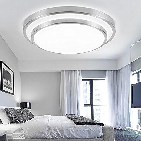 Lilamins Luces LED lámpara de techo de aluminio minimalista dormitorio Salón lámpara luces luces de sala de estudio habitaciones con balcón luz ,12W 29CM ? ...