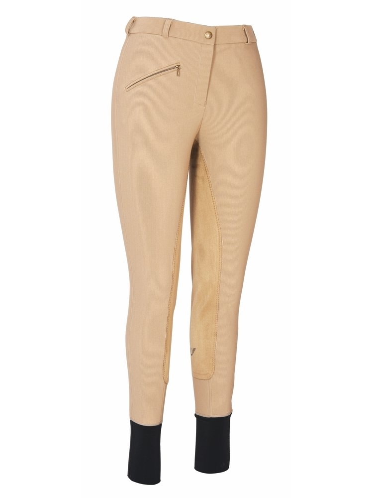 TUFFRIDER Ribbed Lowrise Full Seat Ladies Breech - Regular JPC Equestrian Inc