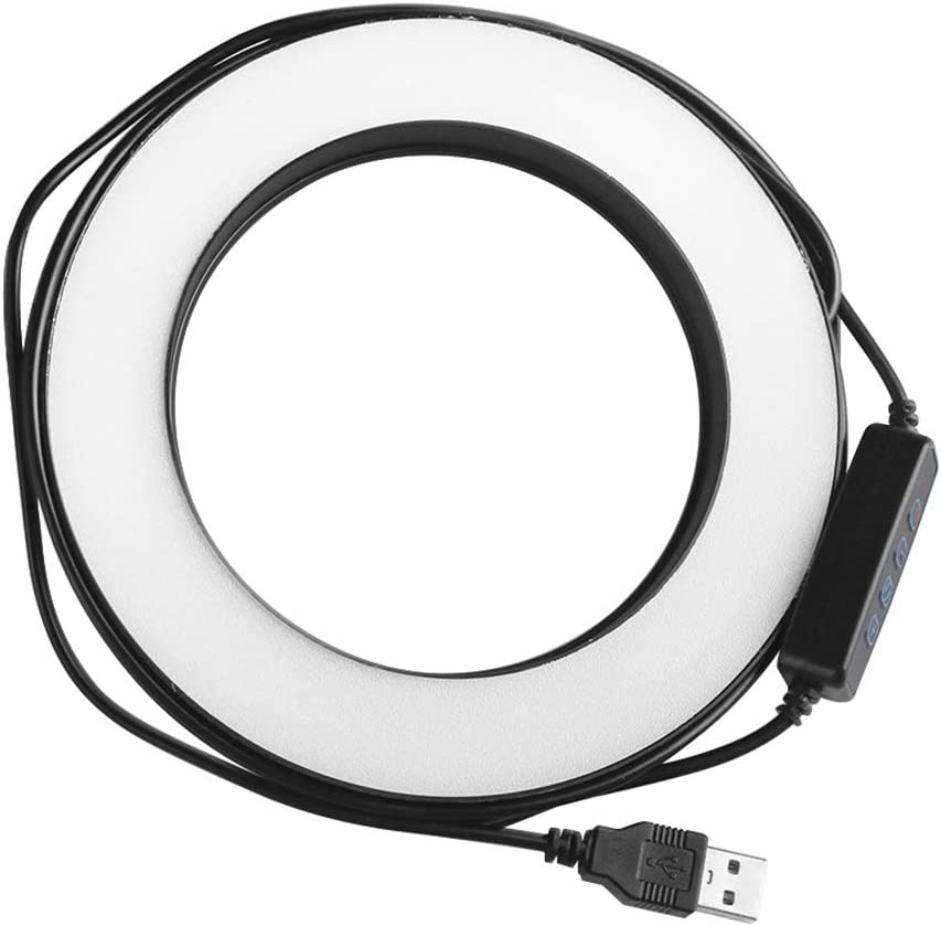 heaven2017 Dimmable LED Selfie Ring Makeup Yutube Vidro Flash Light Lamp Circle Lighting with Tripod for Cellphone//Camera Black 14.5 cm