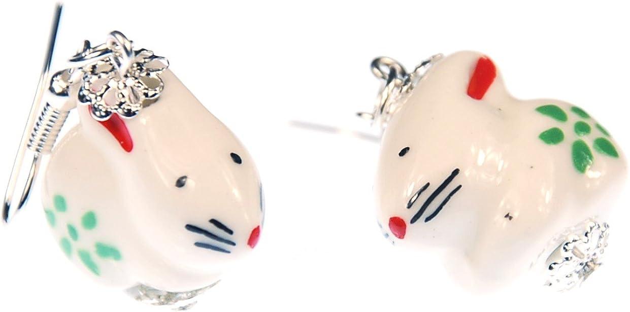 Osterhase Ostern Ohrringe Miniblings Hänger Hase Häschen Holz Blumen Kaninchen