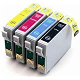 King of Flash Epson Compatible Full Set of High Yield Black (T1281)/ Cyan (T1282)/ Magenta (T1283)/ Yellow (T1284) Ink Cartridges. 1 x T1285 Multipack Set