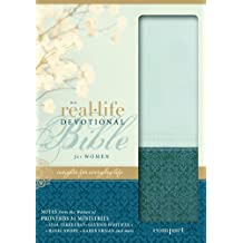 NIV, Real-Life Devotional Bible for Women, Compact, Leathersoft, Green/Blue: Insights for Everyday Life