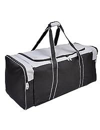 36 Inch Heavy Duty 3-Pocket Hockey Bag Grey