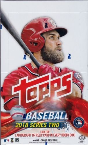 - 2018 Topps Series 2 Baseball Hobby Box (36 Packs/10 Cards: 1 Autograph or relic)